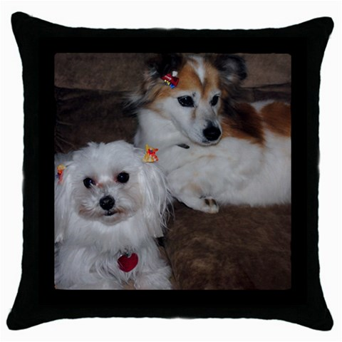 Pillow Case Of My Girls By Michelle   Throw Pillow Case (black)   V6pv10cuqppz   Www Artscow Com Front