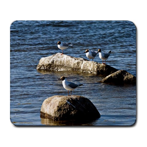 Gulls On Stones By Niclas Glasberg   Large Mousepad   04wxgohkzw6d   Www Artscow Com Front
