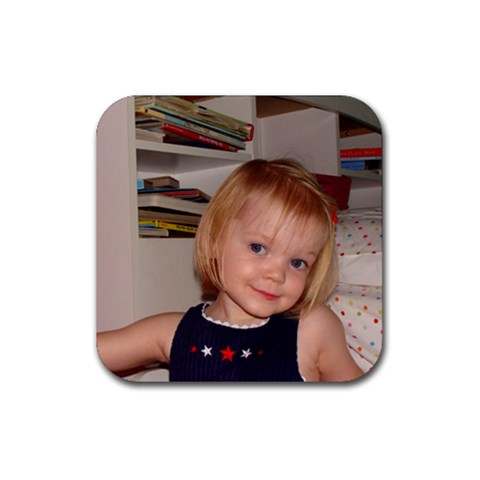 Alexandra Being Cute By April Pons   Rubber Coaster (square)   9frio7m4ey1l   Www Artscow Com Front