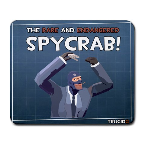 Team Fortress 2   Spycrab By Trucido   Large Mousepad   Tv62cy0m4g6y   Www Artscow Com Front