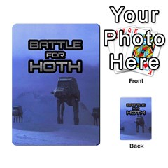 Battle For Hoth By Simon   Multi Purpose Cards (rectangle)   6hj7o6uztcfk   Www Artscow Com Back 3
