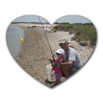 Ava s fishing trip - Heart Mousepad