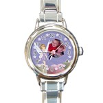 Lillian Watch - Round Italian Charm Watch