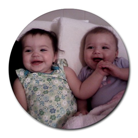 Bay And Iz  By Kelly Mullis   Collage Round Mousepad   29wgwffeq5yu   Www Artscow Com 8 x8 Round Mousepad - 1