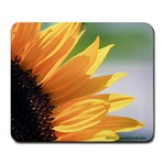 sunflower purrrrty - Large Mousepad