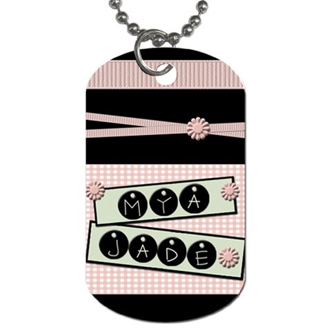 A Dog Tag I Made For Mya By Shawna   Dog Tag (one Side)   Vtuh2qzv55e9   Www Artscow Com Front