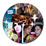 bfff - Collage Round Mousepad
