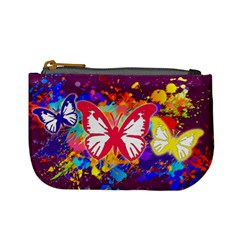 Butterfly Paint By Annette Aguirre   Mini Coin Purse   Olbo9sbuffun   Www Artscow Com Front
