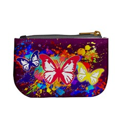 Butterfly Paint By Annette Aguirre   Mini Coin Purse   Olbo9sbuffun   Www Artscow Com Back