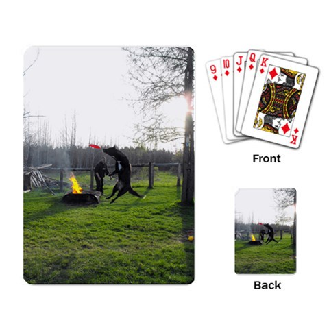 Gurlee Jumpin For Her Frizbee By Anna F   Playing Cards Single Design   K2vlwd5ad38p   Www Artscow Com Back