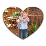 my 2 little darling s - Heart Mousepad