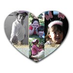 Mom and dad mousepad - Heart Mousepad