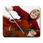 Jordan with his cello - Large Mousepad