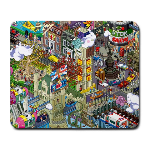 Eboy Mouse Pad By Oliver   Large Mousepad   9f7he7x4dcia   Www Artscow Com Front