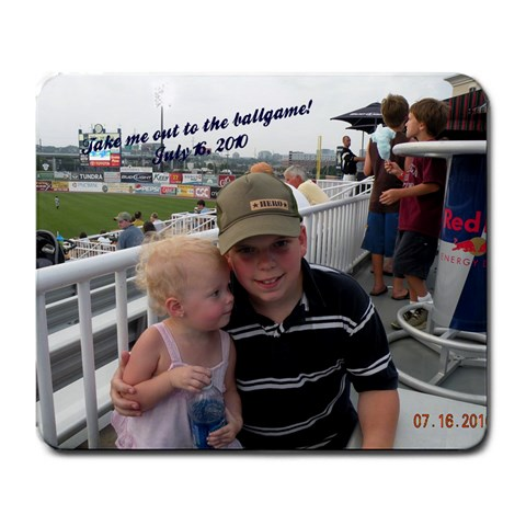 Ballpark By Gretchen Keith   Large Mousepad   0daxesh9pf91   Www Artscow Com Front