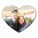 My Army Man & Me - Heart Mousepad