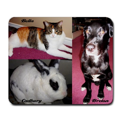 Pets By Lisa Blackburn   Collage Mousepad   3n930nu89ll8   Www Artscow Com 9.25 x7.75 Mousepad - 1