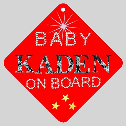 Baby Kaden On Board By Debbie Normand   Car Window Sign   6s3j6vkffb1o   Www Artscow Com Front