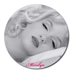 marilyn mousepad - Collage Round Mousepad