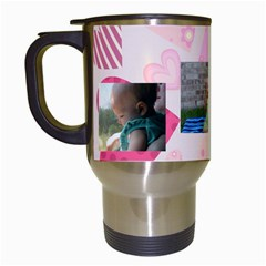 Melissa Birthday Bug By Amandaj0831   Travel Mug (white)   Lrnfjv3qsq7y   Www Artscow Com Left
