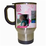 Melissa birthday bug - Travel Mug (White)