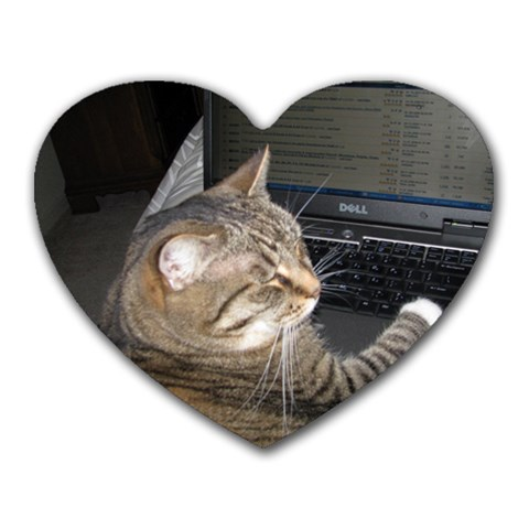 Abby Does Facebook Too! By Sharon L Bell   Heart Mousepad   3cjob5tf1ioz   Www Artscow Com Front