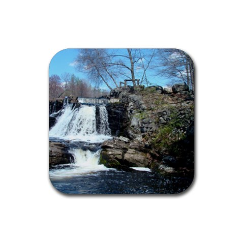Southford Falls By Bethnoel   Rubber Coaster (square)   Jtbia85p54ei   Www Artscow Com Front