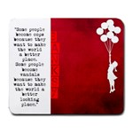 banksy - Large Mousepad