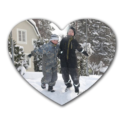 Min Gratis Musmatta :) By Anna Daulin   Heart Mousepad   Aop622gqjmy2   Www Artscow Com Front
