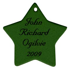 John Ogilvie 2009 By Sharon   Star Ornament (two Sides)   Gtmjosap8wjn   Www Artscow Com Back