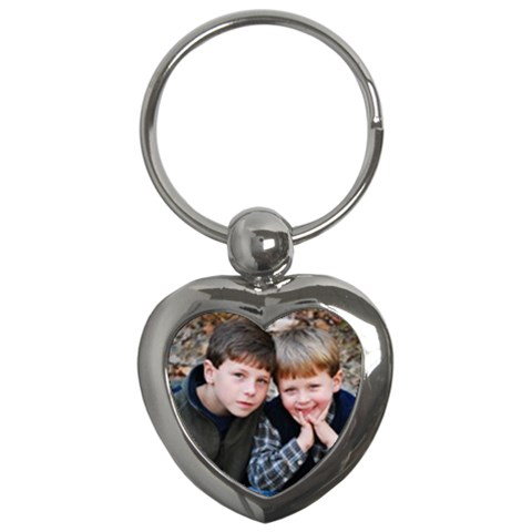 Ethan And Jacob Heart Keychain By Wendy Green   Key Chain (heart)   Zqucuk7qgvy5   Www Artscow Com Front