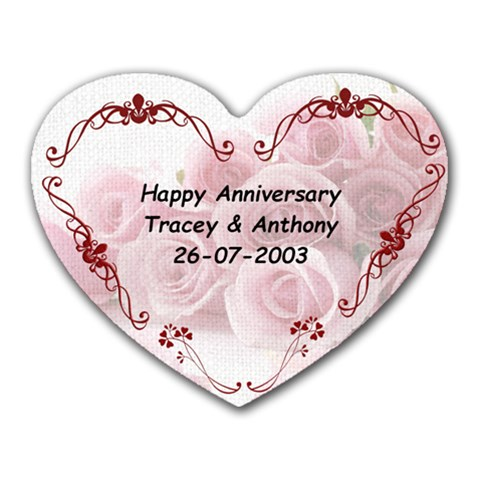 Wedding By Tracey Anne Horne   Heart Mousepad   9ydwd37xhwwl   Www Artscow Com Front