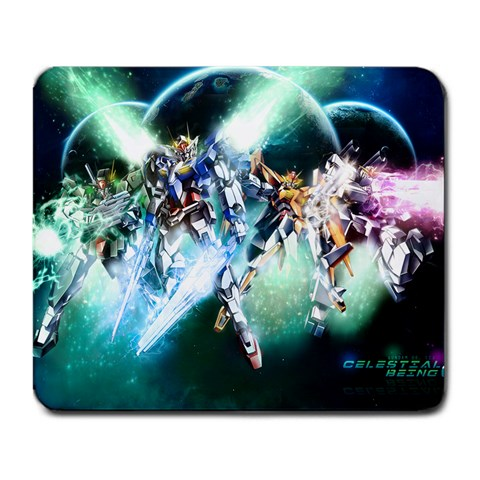 Gundam 00 Season 2 Custom Mousepad By Paul Yin   Large Mousepad   4iabgto4a9bz   Www Artscow Com Front