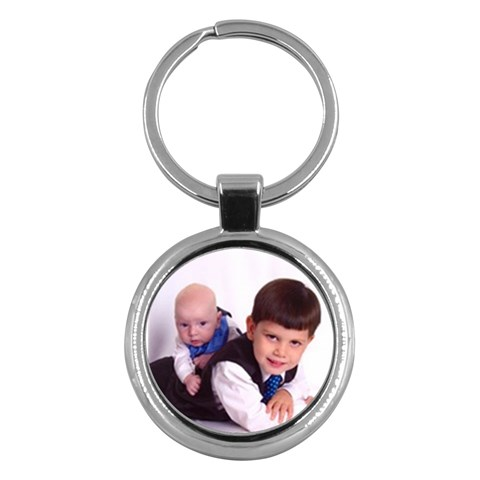 Alex And Bryce Keychain By Sarah   Key Chain (round)   Lp5x6td2x0fe   Www Artscow Com Front
