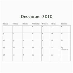 Calendar By Babyblueangel   Wall Calendar 11  X 8 5  (12 Months)   P7mgam8eu7dc   Www Artscow Com Dec 2010