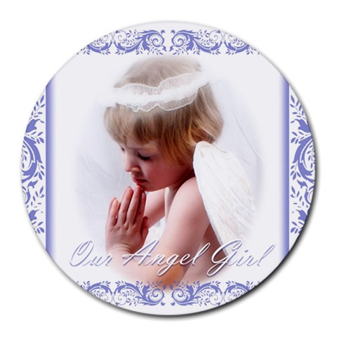 Kiley Angel By Penny   Collage Round Mousepad   Lri2ak3s10oz   Www Artscow Com 8 x8 Round Mousepad - 1