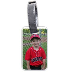 Ethan s Baseball Theme Luggage Tag By Wendy Green   Luggage Tag (two Sides)   2yx3omkfbm7k   Www Artscow Com Back