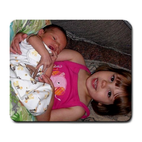 Proud Big Sister By Dawn Davis Grant   Large Mousepad   Iqao3ikt72nm   Www Artscow Com Front