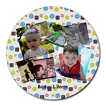 Keaton & Reese - Collage Round Mousepad