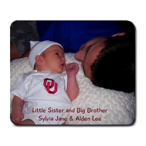 Little Sister Big Brother By Jill Davis   Collage Mousepad   Iw2enr7hjiev   Www Artscow Com 9.25 x7.75 Mousepad - 1