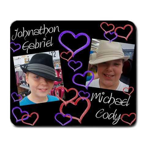 Mike And John By Jennifer Weaver Stancil   Collage Mousepad   Bvi4ls6eug99   Www Artscow Com 9.25 x7.75 Mousepad - 1