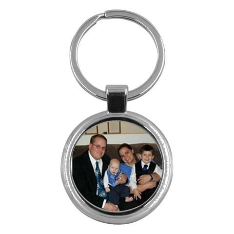 Family Key Chain By Sarah   Key Chain (round)   Ykev3t17k56w   Www Artscow Com Front