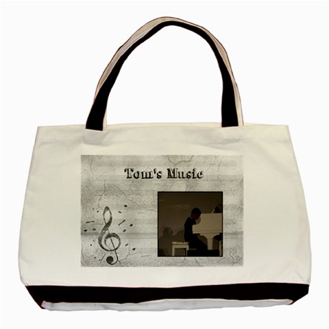 Tom Music2 By Fiona    Basic Tote Bag   57ac8rivhiv5   Www Artscow Com Front