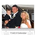 BeckyPaul - Wall Calendar 11  x 8.5  (12-Months)