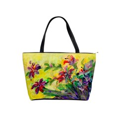 Uncontrolled Lilies By Alana   Classic Shoulder Handbag   24n291m71ueg   Www Artscow Com Front