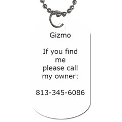 Gizmo By Patricia Aaron   Dog Tag (two Sides)   Jgjmcody9l9d   Www Artscow Com Back