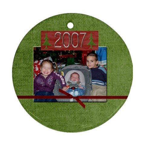 A Christmas Ornament  I Made By Shawna   Ornament (round)   Or1hww97kpcs   Www Artscow Com Front