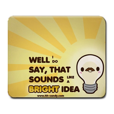 Bright Idea By Coral Renee Wasserman   Large Mousepad   X4jqhjcxl3je   Www Artscow Com Front