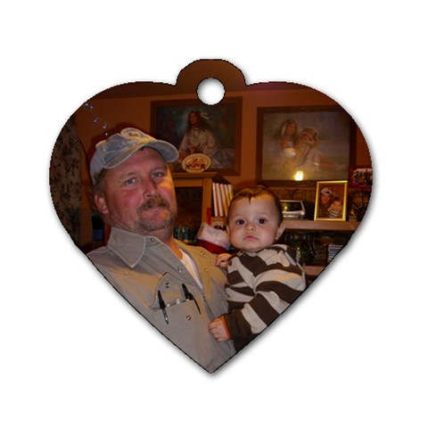 Harold Jr  & Axl By Jo Ann Harper   Dog Tag Heart (one Side)   0nmnr050r5br   Www Artscow Com Front