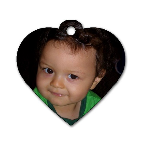 My Grandson Axl By Jo Ann Harper   Dog Tag Heart (one Side)   8lc2wc0cnrgd   Www Artscow Com Front